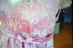Detailansicht Umstands-Brautkleid
