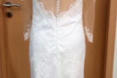 Maßangefertigtes Brautkleid Rückansicht
