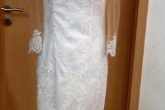 Maßangefertigtes Brautkleid Vorderansicht