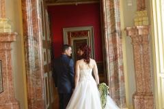 Maßangefertigtes Brautkleid mit 1,50m langer Schleppe